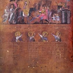 The entry of Jesus into Jerusalem