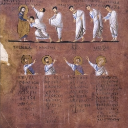 Communion of the Saints (This scene occupies two pages of the Codex)